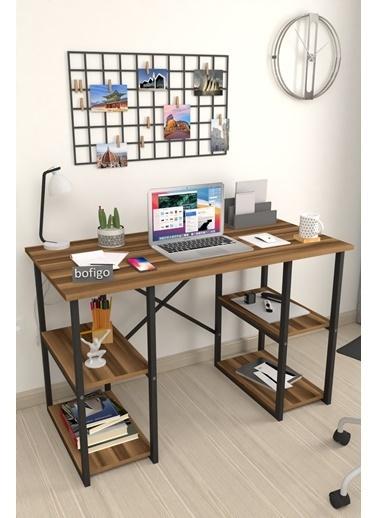 Bofigo Bofigo 60x120 cm 4 Raflı Çalışma Masası Bilgisayar Masası Ofis Ders Yemek Masası Efes Kahve